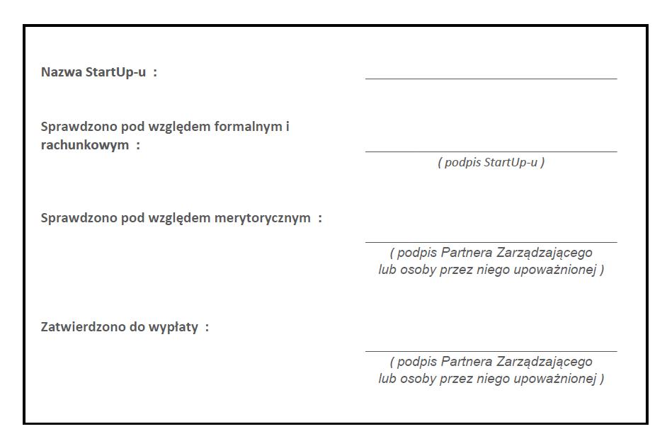 formatka do faktury kosztowej AIP