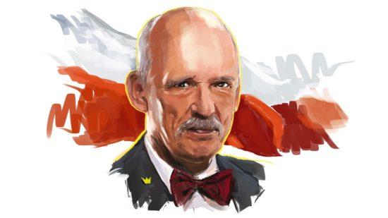 Portret J. Korwin-Mikkego