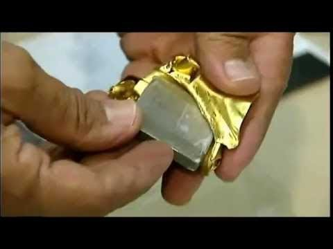 sztabka złota podrobiona wolframem