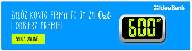 idea bank promocja 600 zł