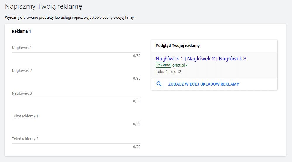 Reklama w Google Ads